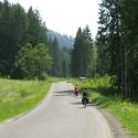 Pierwsze kilometry to podjazd pod przełęcz i przejście graniczne w Glince.