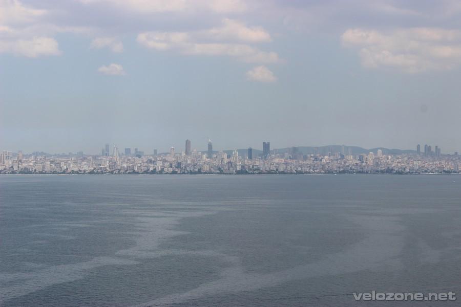 Mały wycinek panoramy Stambułu