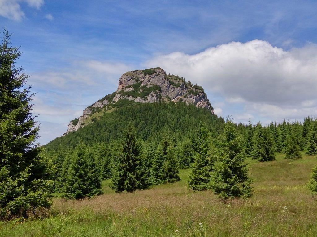 Mały Rozsutec widziany z przełęczy Mezirozsutce.